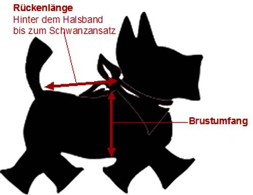 Größentabelle Hundebekleidung