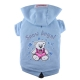 Doggydolly BIG DOG Hundesweatshirt Snow Angel hellblau