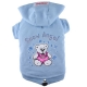 Hundesweater Snow Angel blau
