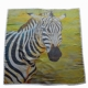 Zebra print on scarf - Widht 100 cm, Length 100 cm.