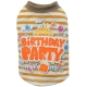 Hunde-T-Shirt Birthday Party gelb gestreift