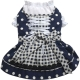 Dog dress Bavarian Dirndl blue white