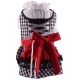 Dog dress Bavarian Dirndl black and white plaid