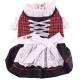 Dog dress Bavarian Dirndl black-red plaid