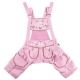 Lederhosen pants for dogs light pink