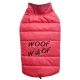 Veste hiver Woof pink carlin, bouledogue