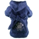 BIG DOG Frottee-Bademantel blau